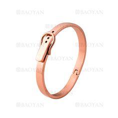 pulsera de moda de oro rosado en acero inoxidable-SSBTG1225000