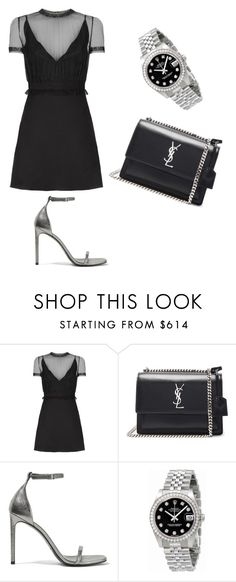 """""""Untitled #304"""" by doda-laban on Polyvore featuring Valentino, Yves Saint Laurent and Rolex"""