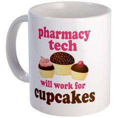 LOL all of my co-workers need this mug.... Funny Pharmacy Tech Mug