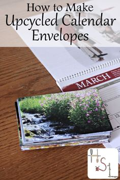 Reuse last year's calendar for next year's mailing needs by making upcycled calendar envelopes with this easy and fun craft project. Upcycled Crafts, Repurposed, Craft Tutorials, Craft Projects, Craft Ideas, Homemade Envelopes, Making Envelopes, Easy Crafts, Crafts For Kids