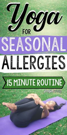 Allergies are the worst and by practicing yoga it will help you reduce the feeling allergies cause. Seasonal Allergy Symptoms, Seasonal Allergies, Yoga Flow Sequence, Yoga Sequences, Yoga For Weight Loss, Best Weight Loss, Losing Weight, Dr Oz, Yoga Routine For Beginners