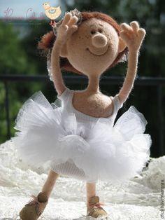 """Купить """"Подающая большие надежды"""" - разноцветный, балерина, балет, балетная пачка, кукла ручной работы"""