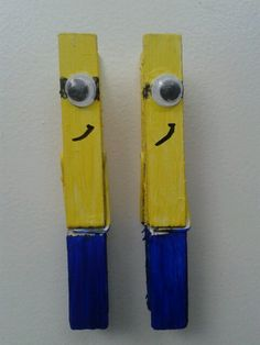 1000 images about zelf maken crafts on pinterest met for Minion clothespins