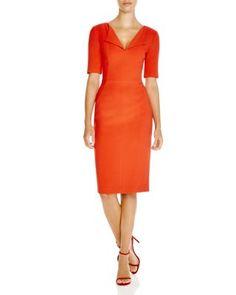 Black Halo Pescara Short Sleeve V-Neck Sheath Dress | Bloomingdale's