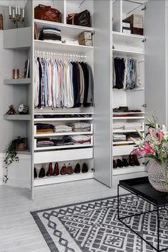 Enkelt <3 Wardrobe Storage, Wardrobe Closet, Closet Bedroom, Home Bedroom, Clothing Storage, Closet Storage, Storage Room, Wardrobe Doors, Closet Space