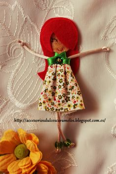 Quecas de Fieltro / Dolls felt Mod46 http://accesoriosdulcescaramelos.blogspot.com.es/search/label/Mu%C3%B1ecas%20%28Quecas%20de%20Fieltro%29