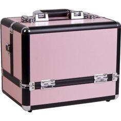 Travel Makeup Artist Train Case Cosmetic Box Organizer Professional Pink