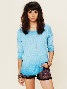 Free People Aurora Washed Short Sleeved Tee at Free People Clothing Boutique