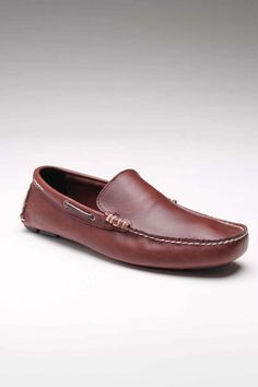 Men's Brown Leather Slip-On.