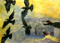 Tulostettu valokuva lähtökohtana. Susanna Majurin valokuva Raven 2009.
