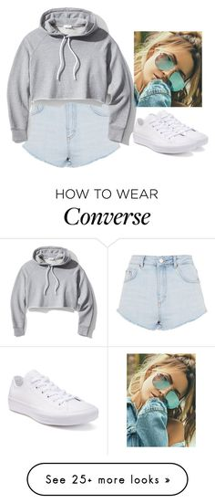 """Untitled #6179"" by hannahmcpherson12 on Polyvore featuring Topshop, Frame, Converse and Quay"