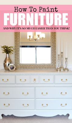 DIY:: How to paint ANY furniture and get professional results the easy way !!!
