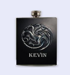 Game Of The Thrones Targaryen Flask  Personalized by RKGrace