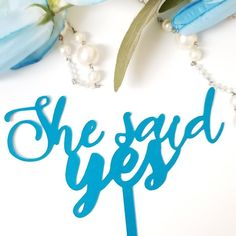 Paper die cut shimmering blue cake topper.  etsy shop update etsy community, etsy collective, etsy stores, wedding stationery designer, she said yess, getting hitched, getting married in 2019, bachelorette, bridal showers, bride blogger, stationery blogger,  buy black movement, melanin poppin', azetta design studio