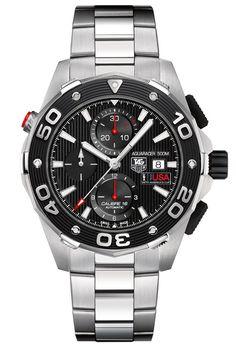 Steel Aquaracer 500M Calibre 16 chronograph ($3,800) by TAG Heuer; 601-491-8801.   - Esquire.com