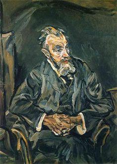 'Carl Moll', by artist ~ Oskar Kokoschka ~ (1886-1980)