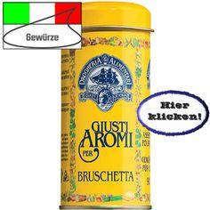 Für die Zubereitung von Bruschetta ist diese Gewürzmischung gedacht. Hier klicken: http://blogde.rohinie.com/2013/02/gewuerze/