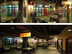 """A Starbucks designed like a Hong Kong """"bing sutt"""" (coffee shop) with vintage furnishings and signage. Our friend Mark was a part of this project."""