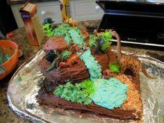 My amazing dinosaur cake :D