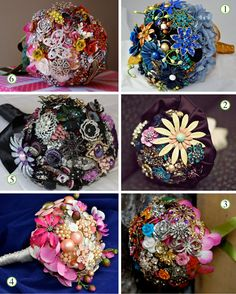 Love these brooch bouquets!