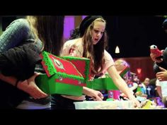 Operation Christmas Child - the kids can see what happens to their box after they drop it off...