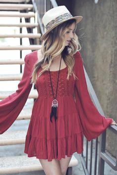 Paperdoll - Peek a Boo Bell Sleeve Dress (http://www.paperdollchick.com/peek-a-boo-bell-sleeve-dress/)