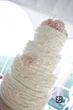 Ruffle Wedding Cake.