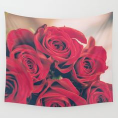 Bundle of Red Roses Wall Tapestry by diardo Pillow Shams, Pillows, Home Goods Decor, Home Decor, Throw Blankets, Wall Tapestry, Red Roses, Towels, Beautiful Homes