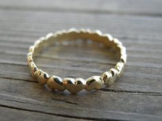 14k Gold Bend Of Heart Ring, Women Engagement Ring, Gift For Girlfriend, Gold Vintage Inspired Classic Ring, Promise Ring, Bridal Jewelry on Etsy, $350.00