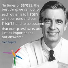 Communication is a verbal and nonverbal action. It is about being the sender just as much as the receiver and using our listening ears! Fred Rogers, Positive Quotes, Motivational Quotes, Inspirational Quotes, Gratitude Quotes, Mood Quotes, Great Quotes, Quotes To Live By, This Is Me Quotes