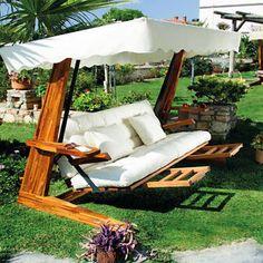 35 Pretty Backyard Ideas with Garden Swings for Relax Bench Swing, Wood Swing, Pergola Swing, Metal Pergola, Pergola Kits, Pergola Ideas, Outside Furniture, Lawn Furniture, Outdoor Furniture