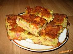 Cuketový nákyp. Lasagna, Quiche, French Toast, Cooking Recipes, Breakfast, Ethnic Recipes, Red Peppers, Morning Coffee, Chef Recipes