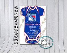 NY Rangers Hockey New York Baby Shower  U-Print by CraftyHooves