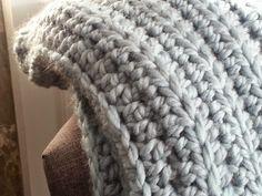 Modern Grace Design: Chunky Ribbed Crochet Blanket :: Free Pattern