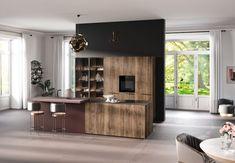 Woonkeuken met eiland Home, Home Decor Trends, Laminate Doors, Kitchen, Oak Color, Monochromatic Room, Trending Decor, Room Divider, Kitchen Maker