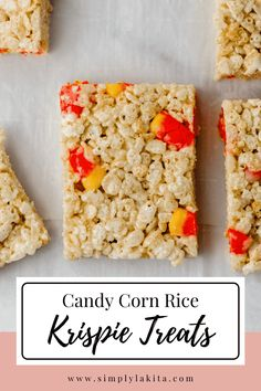 Rice Krispie Treats, Rice Krispies, Chewy Candy, Salted Butter, Candy Corn, Halloween Treats, Yummy Treats, Good Food, Cooking Recipes