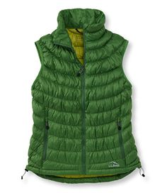 Scrunch Down Vest: Vests | Free Shipping at L.L.Bean Green or Black, S