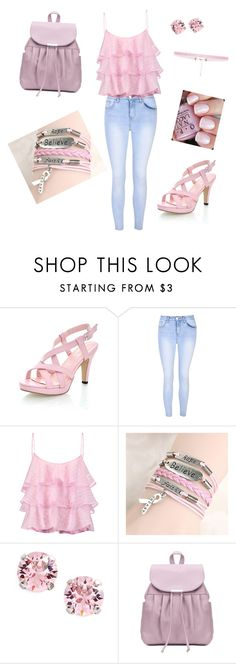 """""""Pink School"""" by krazy-kitten ❤ liked on Polyvore featuring Glamorous, Pierre Balmain, L. Erickson, OPI and 8 Other Reasons"""