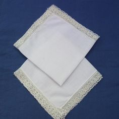 Ladies Hankies /  White Ladies Handkerchiefs / by WhimzyThyme, $10.00