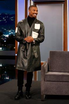Michael Bakari Jordan, Erik Killmonger, Black Panther 2018, Jordans, Normcore, Actors, Celebrities, Coat, Breathe
