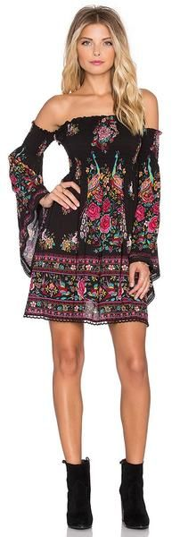Bohemian off the shoulder Long Sleeve Dress Sleeve Style: Off the Shoulder Material: Rayon,Spandex Dresses Length: Above Knee, Mini Silhouette: Loose Sleeve Length: Full