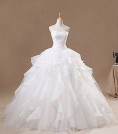 Princess Beads  Lace  Ball Gown wedding dress/  by CharmBridal, $229.00