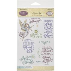 JustRite Clear Stamp Set Great Joy by PNWCrafts on Etsy