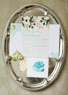 printed and diy watercolored wedding invitations #diy #weddinginvitations #weddingchicks http://www.weddingchicks.com/2014/01/31/the-ultimate-diy-wedding/