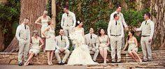 One of a kind wedding party images!