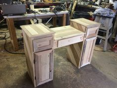 Vanity made from pallet wood!