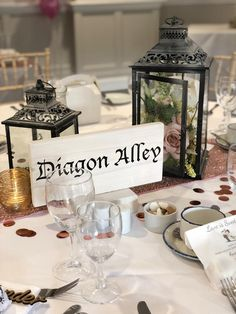 FOR SALE: Hosting a Harry Potter-themed wedding? These handmade Harry Potter table names are perfect for putting a magical spin on your seating plan. Click the link to view the full price and product details! Harry Potter Tisch, Harry Potter Table, Harry Potter Thema, Cumpleaños Harry Potter, Wedding Table Themes, Wedding Centerpieces, Wedding Decorations, Wedding Ideas, Wedding Planning