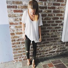 Can't get enough of these olive distressed @justusadenim skinnies  $59 in store and willyjays.com #willyjays #charleston #ootd
