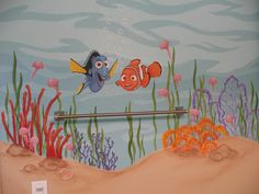 Finding Nemo theme for a child's bathroom.  Artist: Kyle King   Search via Google