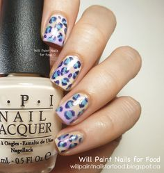 Will Paint Nails for Food: 31 Day Challenge: Day Thirteen, Animal Print: Girly Leopard Spots